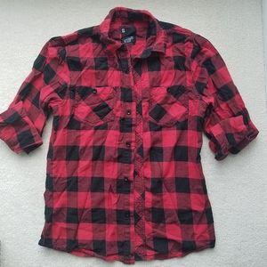 Buffalo Check Red Black Plaid Shirt Long Sleeve